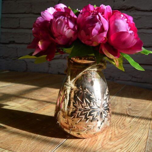 LOTTA CANDLE OR FLOWER HOLDER ROSE GOLD/COPPER