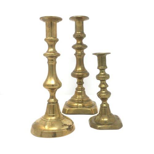 BEATON GOLD CANDLESTICKS