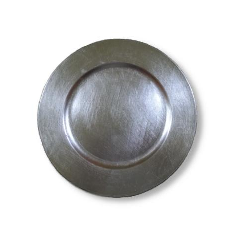 CASSIE SILVER CHARGER PLATE
