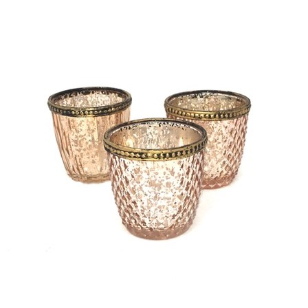 KITTY ROSE GOLD TEALIGHT