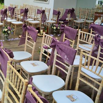 CLARE MAUVE CHAIR SASH