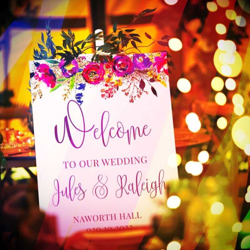 FLORAISON WELCOME SIGN >