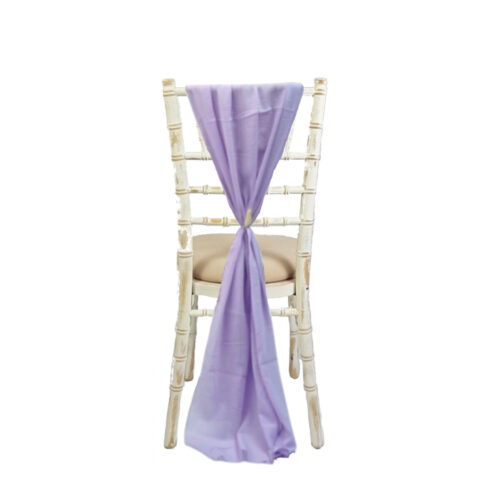 EMMA CHAIR DRAPE LILAC
