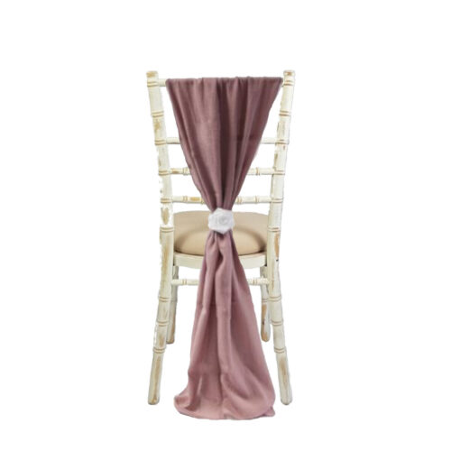 EMMA MAUVE CHAIR DRAPE